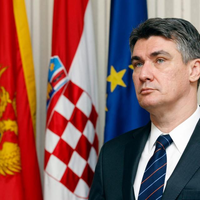 Croatian president Zoran Milanovic