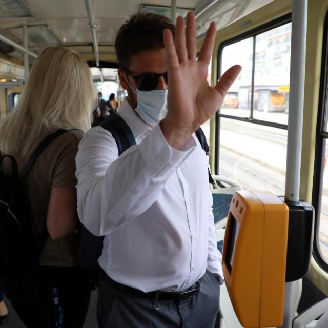 Prizor iz ZET-ovog tramvaja