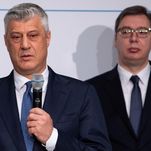 Hashim Thaci i Aleksandar Vučić