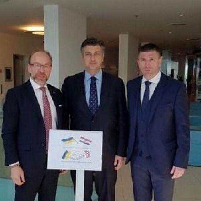 Genadij Čižikov, Andrej Plenković i Ivica Pirić