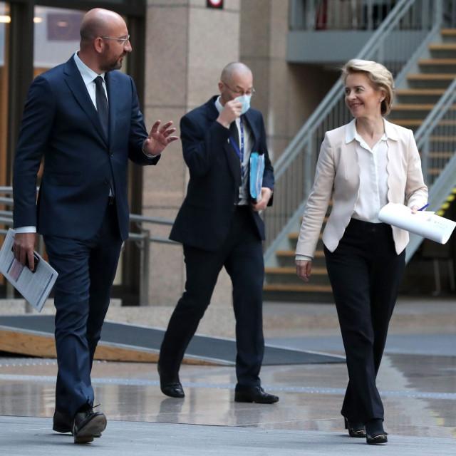 Predsjednik Europskog vijeća Charles Michel i šefica Europske komisije Ursula von der Leyen