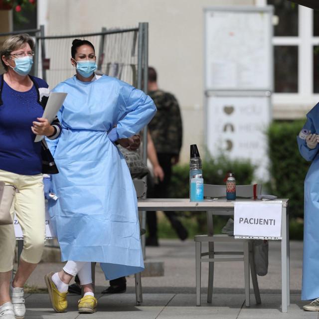 Pojačane kontrole na ulazu u KBC Sestre milosrdnice zbog koronavirusa