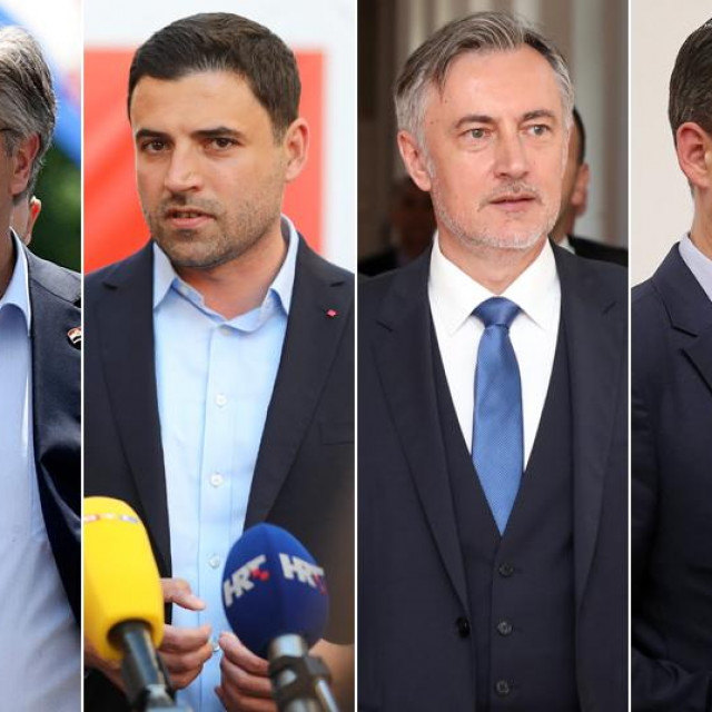 Andrej Plenković; Davor Bernardić; Miroslav Škoro; Božo Petrov; Tomislav Tomašević