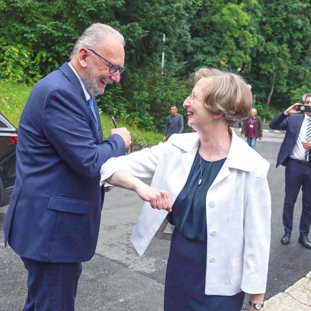 Davor Božinović i Alemka Markotić<br />