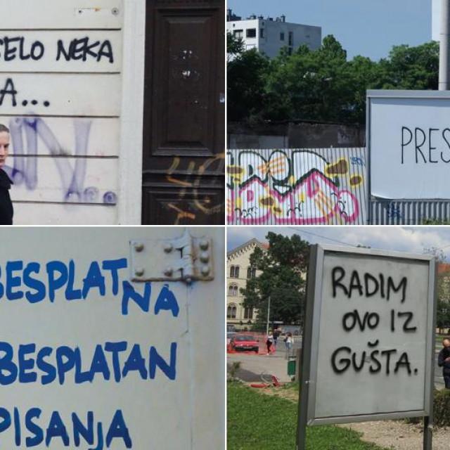 Grfiti autora 'Nebitno' u Zagrebu