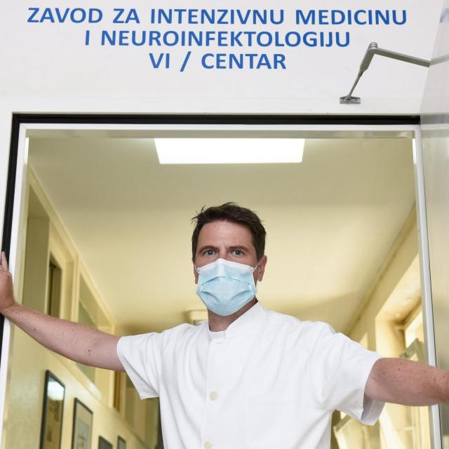 Dr. Marko Kutleša, predstojnik Zavoda za intenzivnu medicinu i neuroinfektologiju