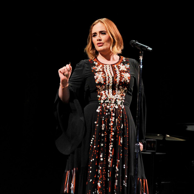 SHEPTON MALLET, ENGLAND - JUNE 25: Adele performing on The Pyramid Stage at Glastonbury Festival, Worthy Farm, Pilton, on June 25, 2016 in Shepton Mallet, England.,Image: 292834049, License: Rights-managed, Restrictions:, Model Release: no, Credit line: Martin Harris/Capital pictures/Profimedia