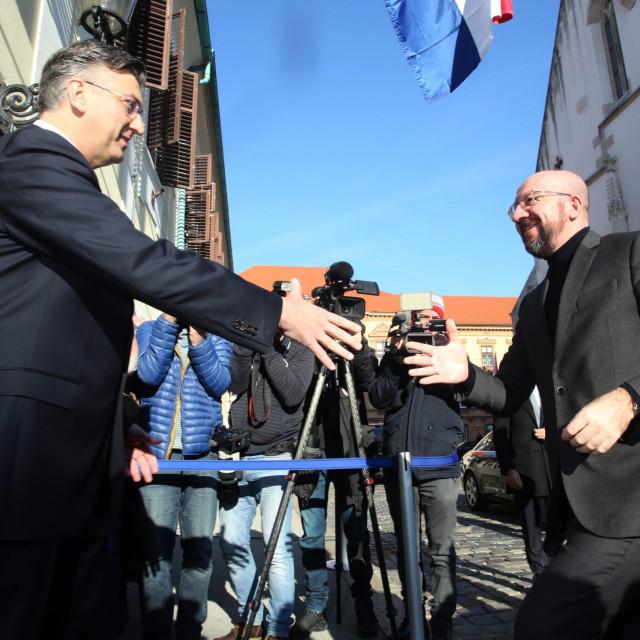 PM Andrej Plenkovic meeting Council president charles Michel