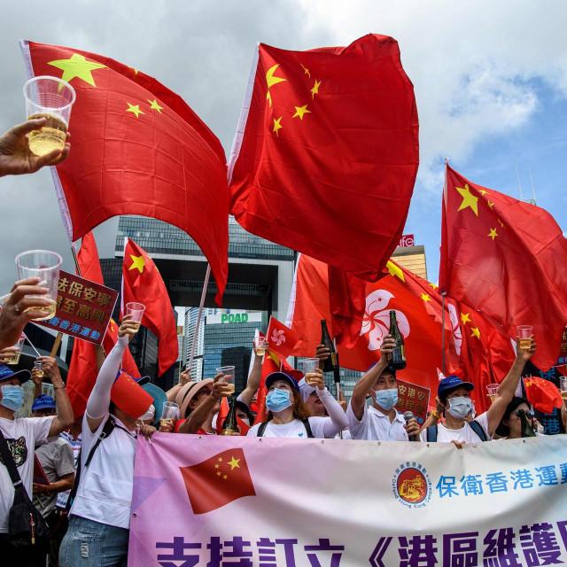 Skup potpore novom zakonu o sigurnosti u Hong KOngu
