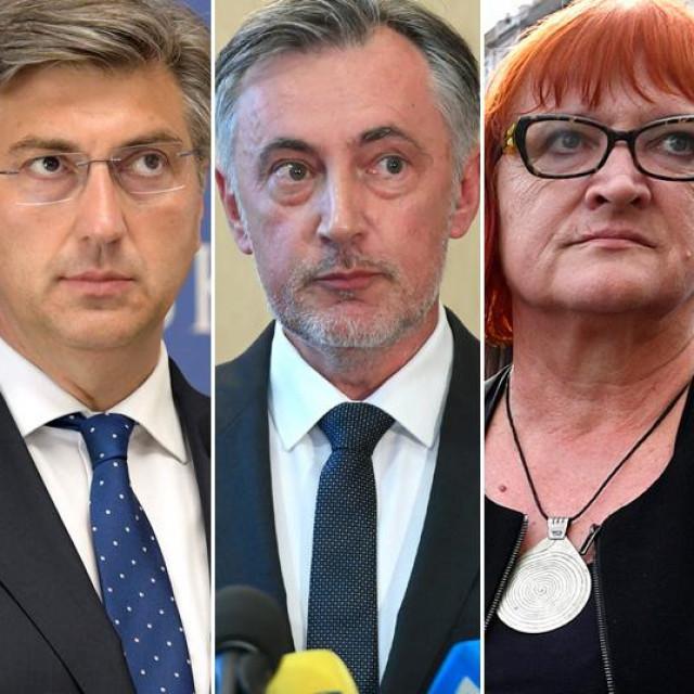 Davor Bernardić, Andrej Plenković, Miroslav Škoro, Rada Borić i Nino Raspudić