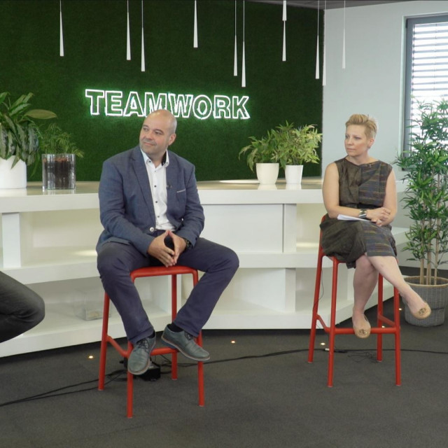 Matija Kopić (Gideon Brothers), Tomislav Makar (A1), Tatjana Skoko (Microsoft), Damir Sabol (Photomath)
