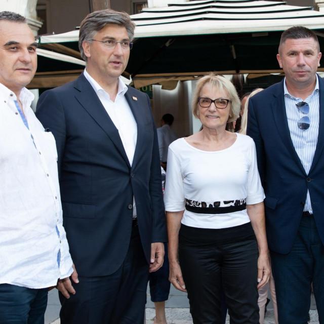 Andrej Plenković, Nevenka Tuđman, Ivica Pirić