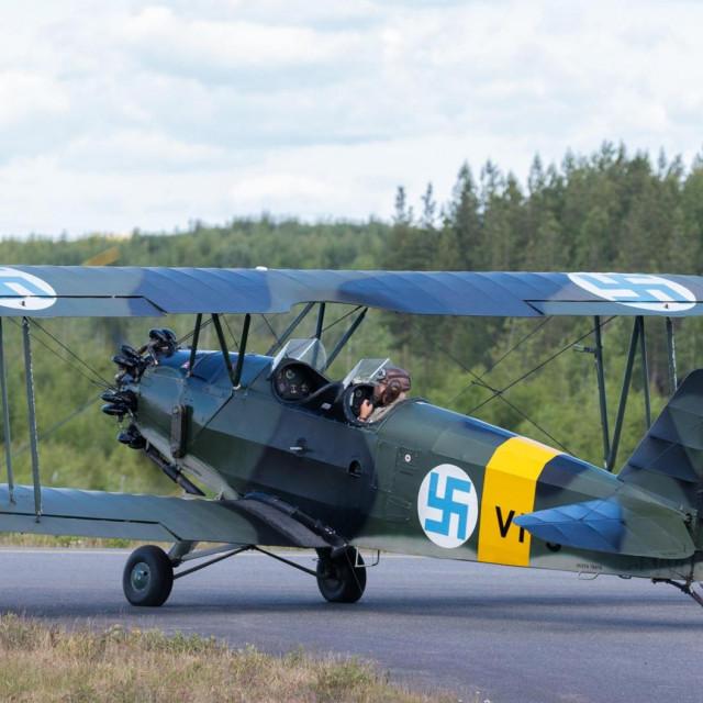 trenažni avion VL Viima, koji je u finskim zračnim snagama bio u uporabi do 60-ih godina prošlog stoljeća