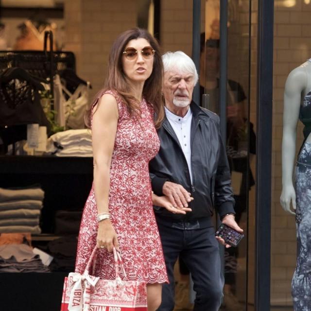 Bernie Ecclestone sa suprugom