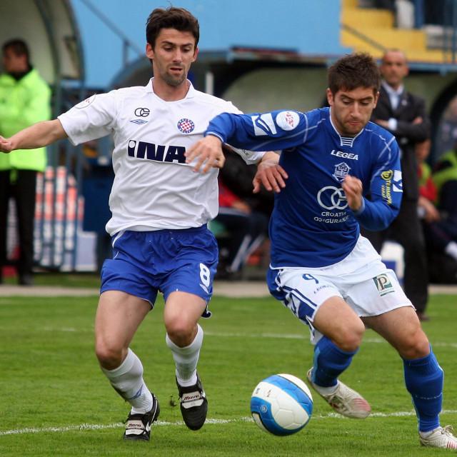 Enes Novinić u utakmici protiv Hajduka