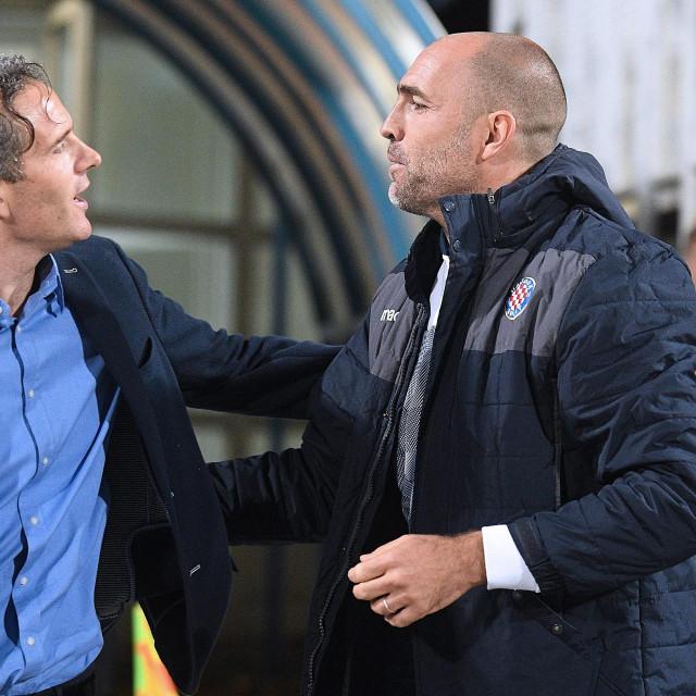 Goran Tomić, trener Lokomotive i Igor Tudor nakon okršaja u Kranjčevićevoj