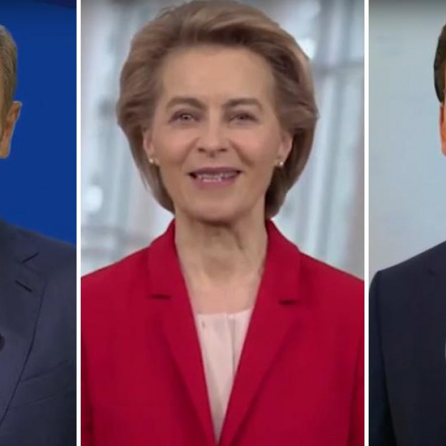 Donald Tusk, Ursula von der Leyen, Sebastian Kurz