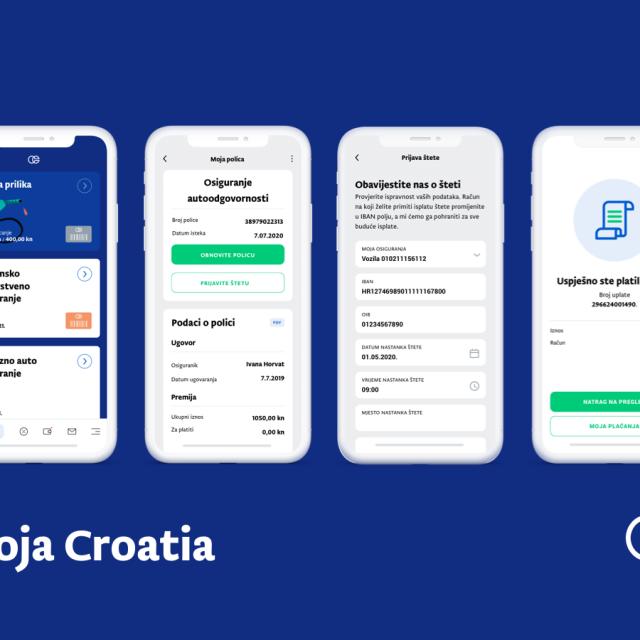 Interaktivno sučelje nove Moja Croatia aplikacije