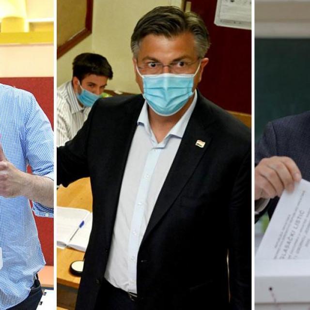 Davor Bernardić, Andrej Plenković, Miroslav Škoro