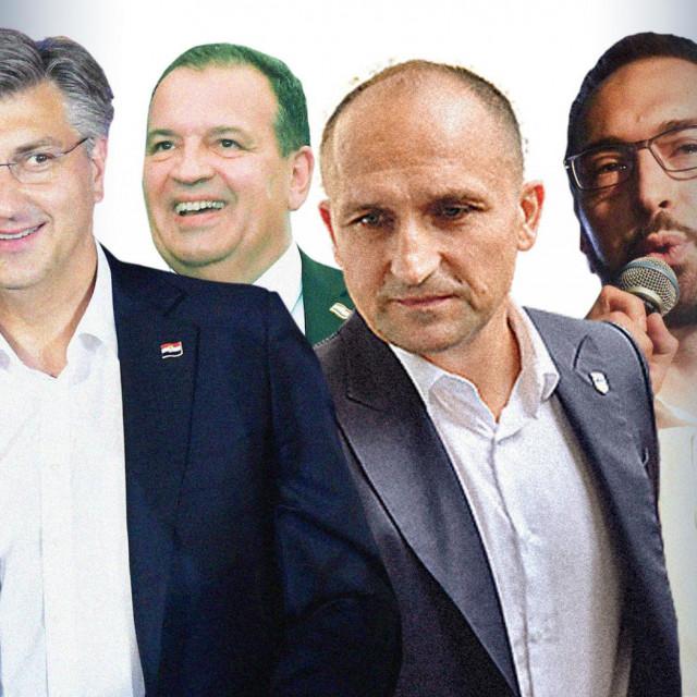 Andrej Plenković, Vili Beroš, Ivan Anušić i Tomislav Tomašević
