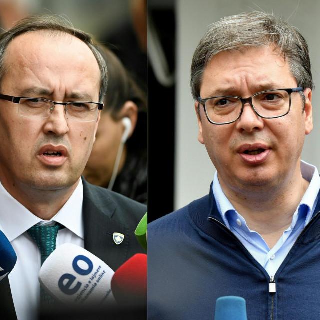 Avduallah Hoti i Aleksandar Vučić