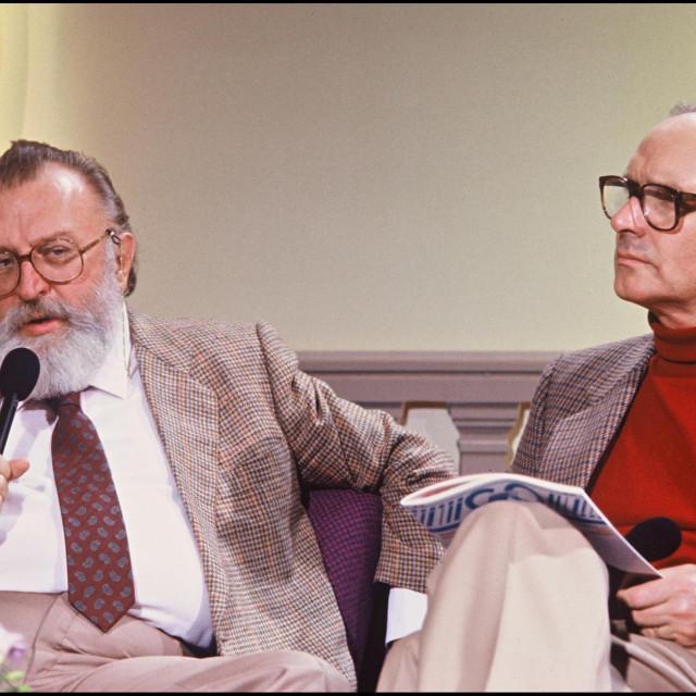 Sergio Leone (lijevo) i Ennio Morricone (desno)
