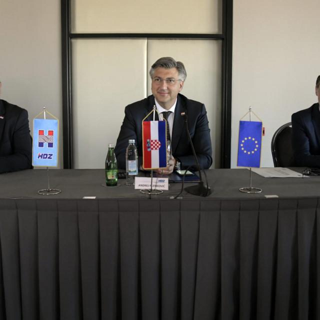 Tomo Medved, Andrej Plenković, Gordan Jandroković