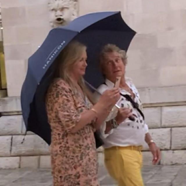 Rod Stewart sa suprugom Penny Lancaster u Dubrovniku