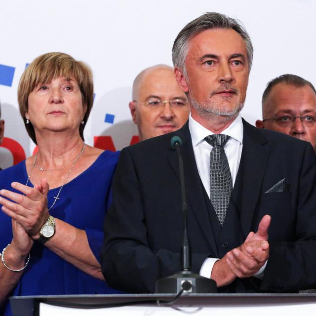 Homeland Movement lead Miroslav Škoro on parliamentary election night