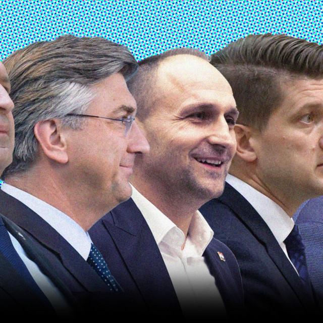 Vili Beroš, Andrej Plenković, Ivan Anušić, Zdravko Marić i Tomislav Tomašević