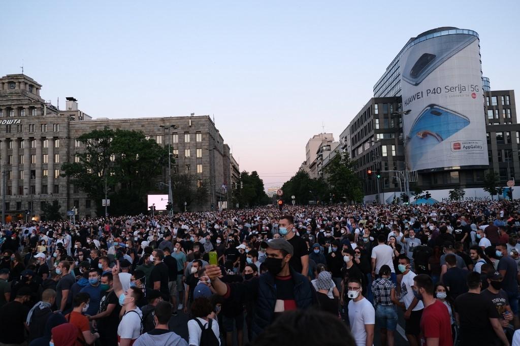 Prosvjed u BeograduMustafa Talha Ozturk/Anadolu Agency Via Afp