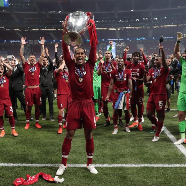 Slavlje igrača Liverpoola prošle sezone