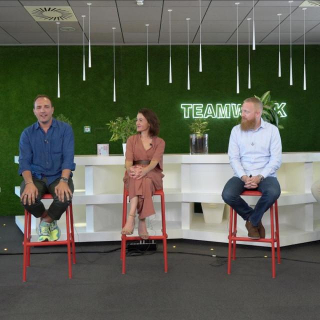 Vedrana Pribičević (ZŠEM), Antonio Šeparović (Oradian), Ana Frlan Bajer (Selectio), Nikola Kapraljević (Infinum), Goran Manestar (A1)