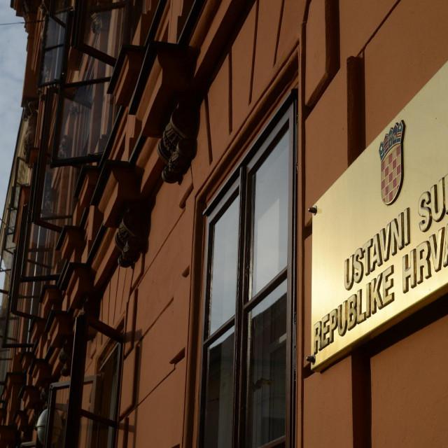 <br /> Zgrada ustavnog suda Hrvatske.<br />