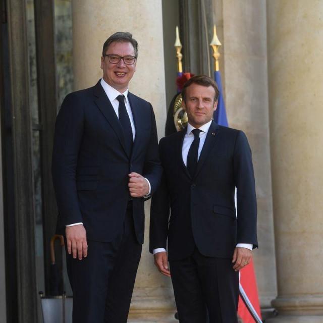 Aleksandar Vučić i Emmanuel Macron