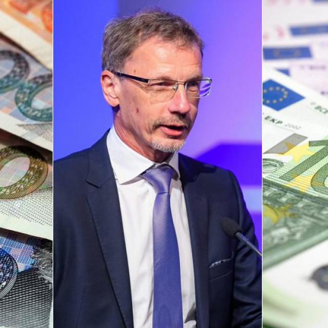 Guverner Hrvatske narodne banke Boris Vujčić (sredina)