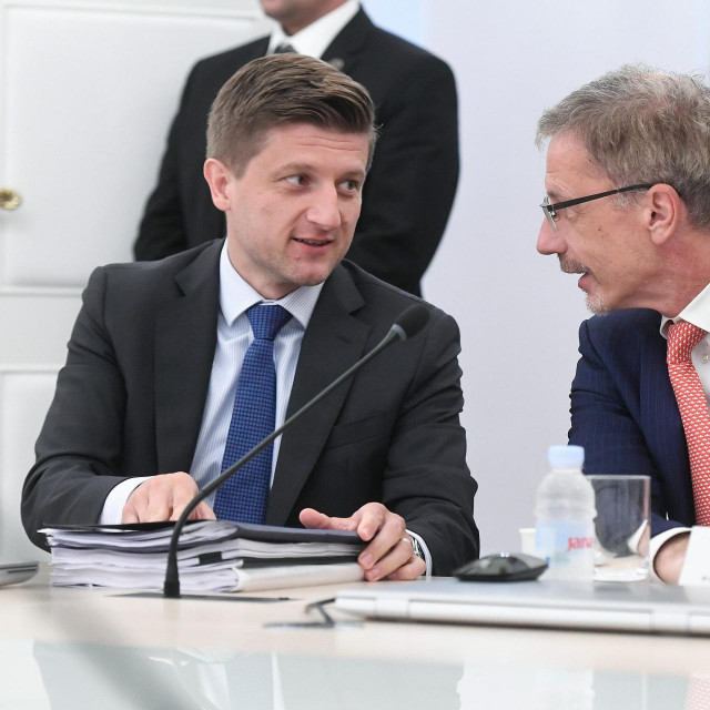 Ministar financija Zdravko Marić i guverner Hrvatske narodne banke Boris Vujčić