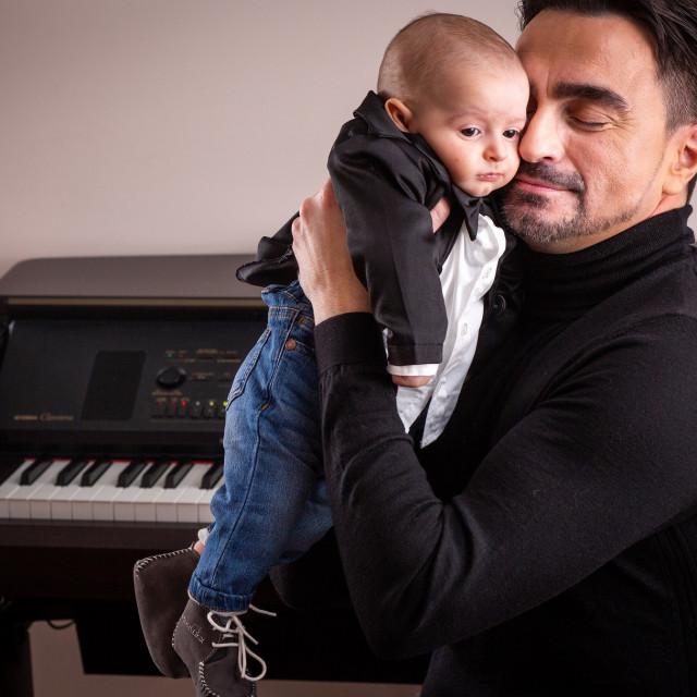 Joško Čagalj sa sinom Ivanom u svom splitskom domu