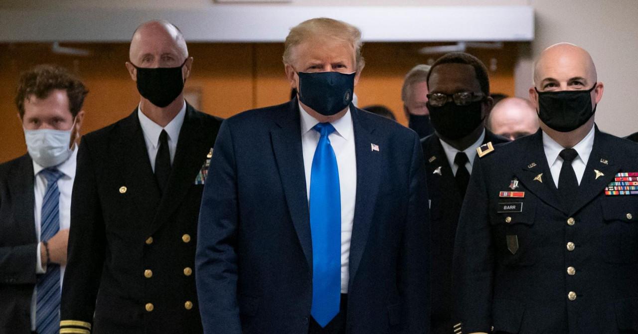 Trump prvi put od početka pandemije s maskom za lice: 'Sjajna je stvar nositi je u bolnici'