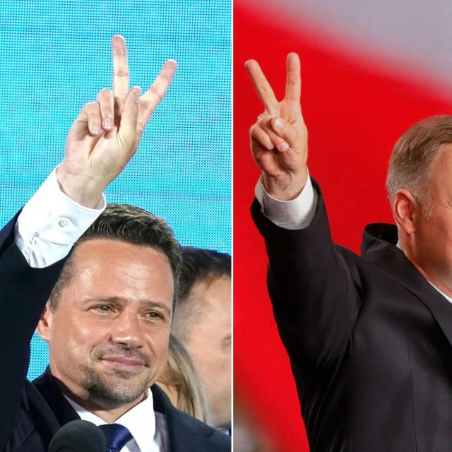 Andrzej Duda i Rafal Trzaskowski
