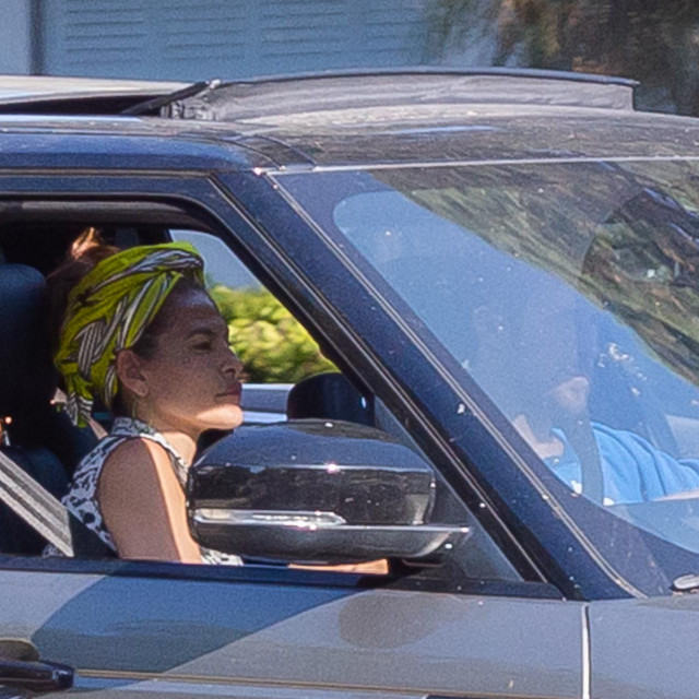 EXCLUSIVE: Ryan Gosling and Eva Mendez are seen driving home from dropping off gifts at a family members house.<br /> **SPECIAL INSTRUCTIONS*** Please pixelate children's faces before publication.***.<br /> 11 Jul 2020,Image: 542100498, License: Rights-managed, Restrictions: World Rights, Model Release: no, Credit line: Mr. E /P&P MEGA/The Mega Agency/Profimedia