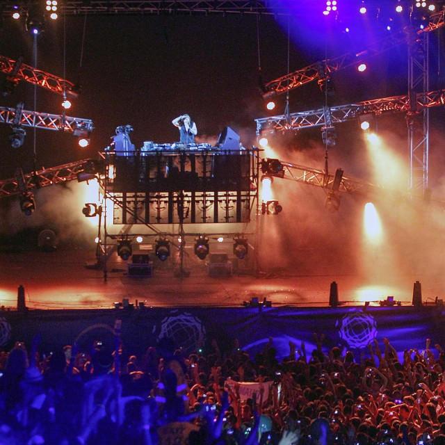 Novi Sad, 130713.<br /> Tvrdjava Petrovaradin.<br /> Cetvrti dan Exit glazbenog festivala koji ce trajati do 14.07.<br /> Na fotografiji: David Guetta.<br />