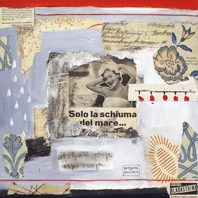 Tatjana Politeo,Veze, 2010. godina, 30 x 30 cm, kombinirana tehnika na platnu
