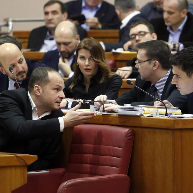 Sinisa Hajdaš Dončić, Arsen Bauk,Davor Bernardić (arhivska fotografija)