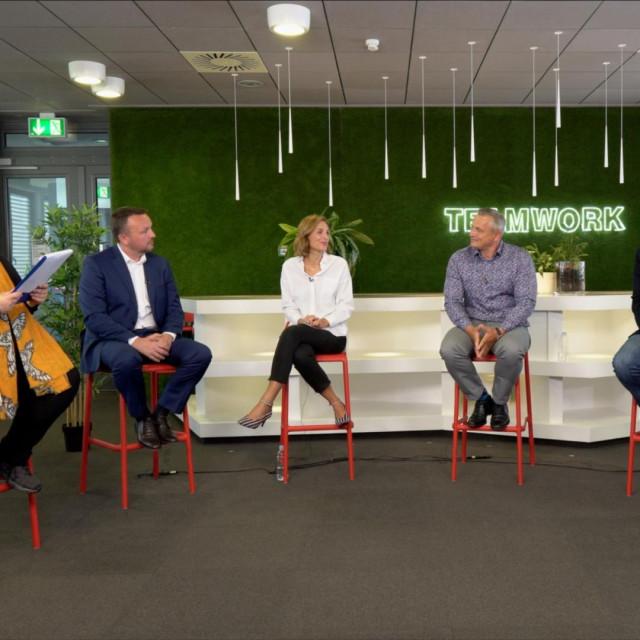Vedrana Pribičević (ZŠEM), Berislav Horvat (EY), Anita Letica (Philip Morris), Jiří Dvorjančanský (A1), Tomislav Balun (IBM), Tomislav Bilić (Inchoo)
