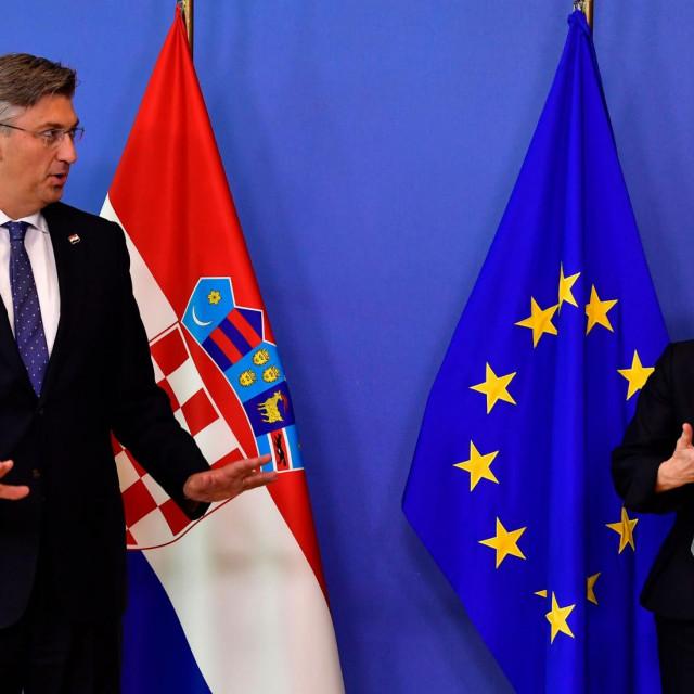 Predsjednica Komisije Ursula von der Leyen i premijer Andrej Plenković