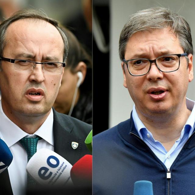 Avdullah Hoti; Aleksandar Vučić