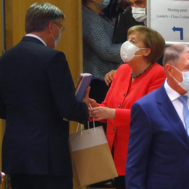 Kancelarka Angela Merkel u društvu premijer Andreja Plenkovića