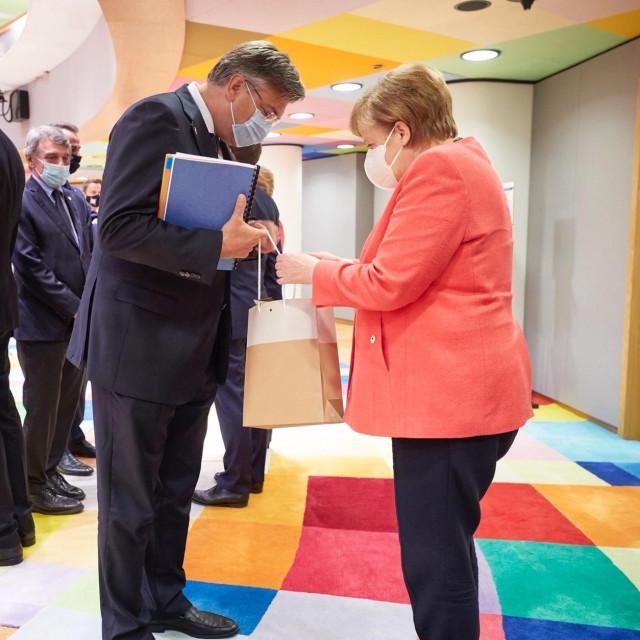Premijer Andrej Plenković i njemačka kancelarka Angela Merkel