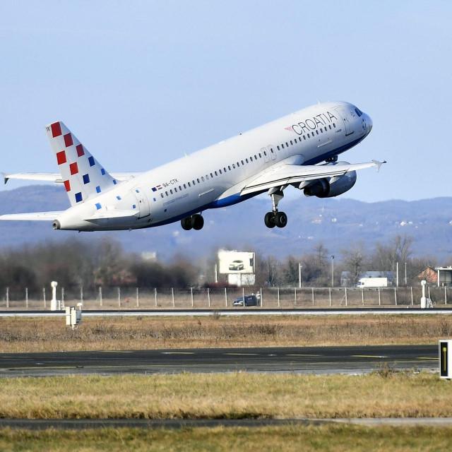 Zrakoplov Airbus A320 aviokompanije Croatia airlines
